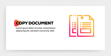 COPY DOCUMENT ICON CONCEPT  イラスト・ベクター素材