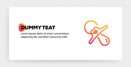 DUMMY TEAT ICON CONCEPT