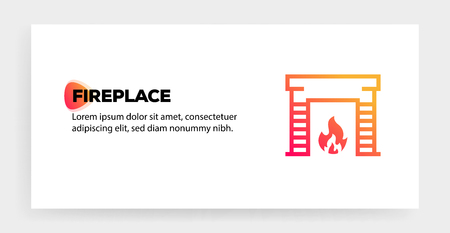 FIREPLACE ICON CONCEPT