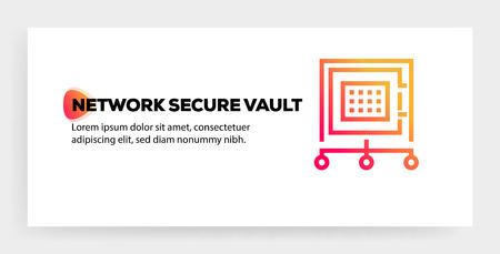 NETWORK SECURE VAULT ICON CONCEPT Illustration
