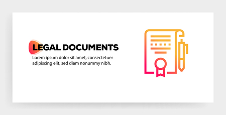 LEGAL DOCUMENTS ICON CONCEPT Illustration