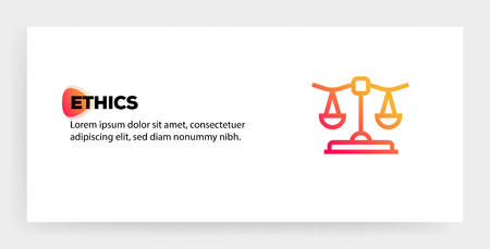 Concepto de icono de ética Ilustración de vector