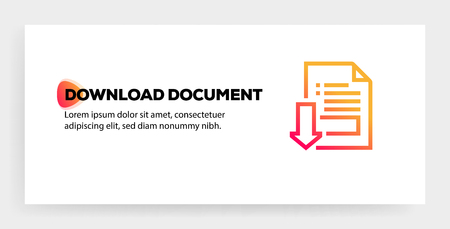 DOWNLOAD DOCUMENT ICON CONCEPT