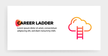 CAREER LADDER ICON CONCEPT