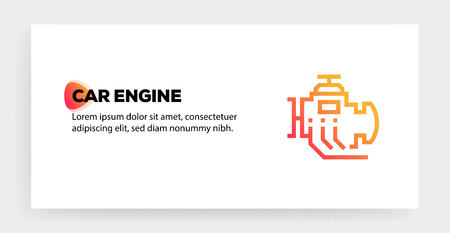 CAR ENGINE ICON CONCEPT