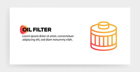 OIL FILTER ICON CONCEPT Vectores