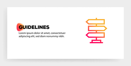GUIDELINES ICON CONCEPT Vectores