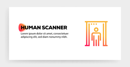 HUMAN SCANNER ICON CONCEPT