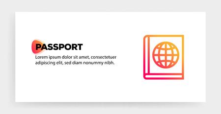 PASSPORT ICON CONCEPT