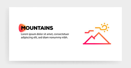 MOUNTAIN ICON CONCEPT Banque d'images - 120040739