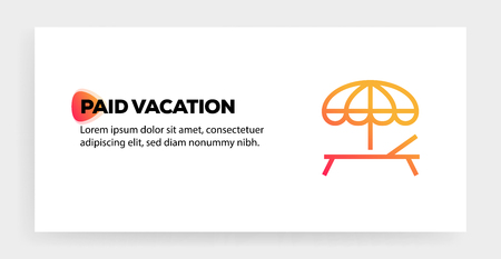 PAID VACATION ICON CONCEPT