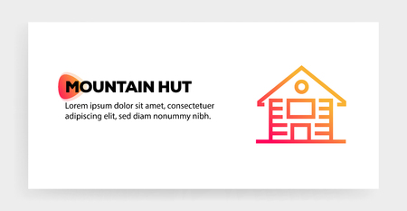 MOUNTAIN HUT ICON CONCEPT