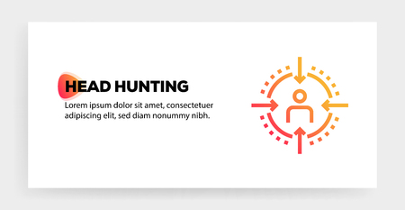 HEAD HUNTING ICON CONCEPT