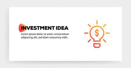 INVESTMENT IDEA ICON CONCEPT