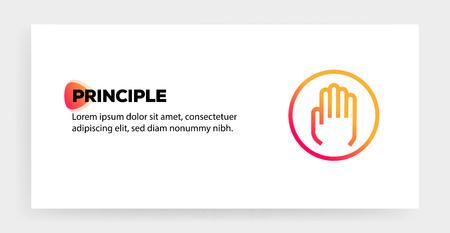 PRINCIPLE ICON CONCEPT Illustration