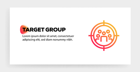 TARGET GROUP ICON CONCEPT