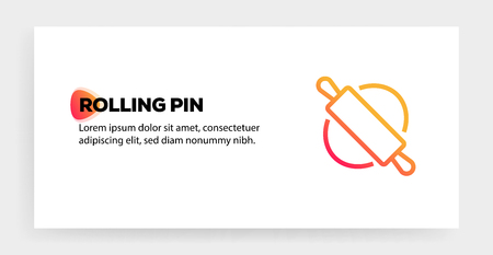 ROLLING PIN ICON CONCEPT