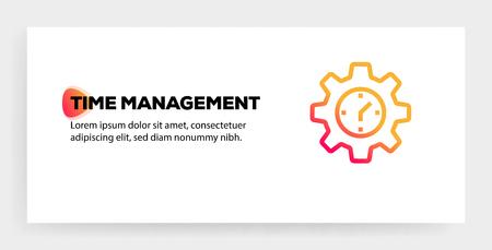 TIME MANAGEMENT ICON CONCEPT