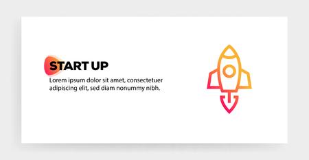 START UP ICON CONCEPT Ilustração