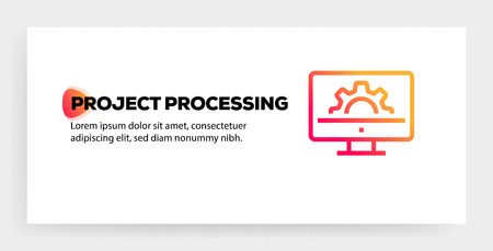 PROJECT PROCESSING ICON CONCEPT