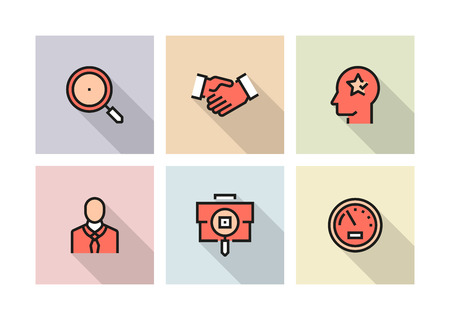 HUMAN RESOURCES ICON CONCEPT Иллюстрация