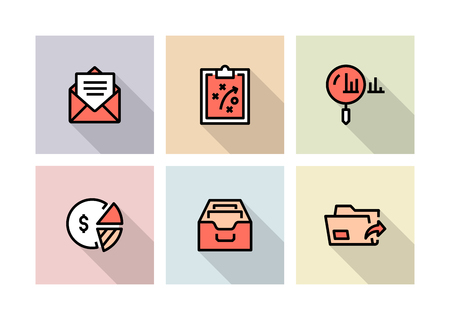 WORKFLOW AND BUSINESS ICON CONCEPT