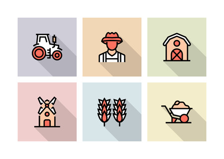 FARM AND AGRICULTURE ICON CONCEPT