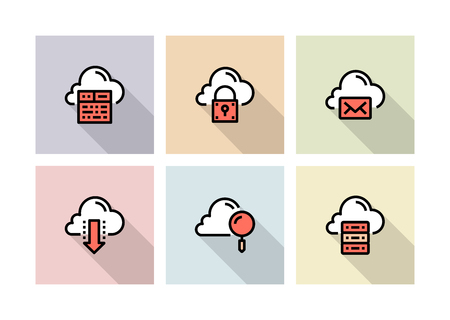CLOUD DATA TECHNOLOGY ICON CONCEPT
