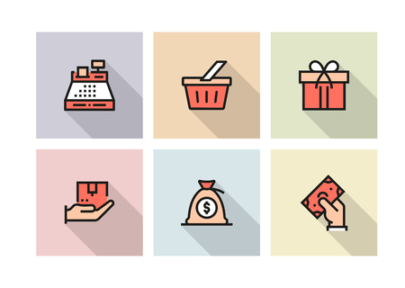 SHOPPING AND RETAIL ICON CONCEPT Иллюстрация