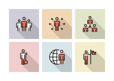 BUSINESS PEOPLE ICON CONCEPT Иллюстрация