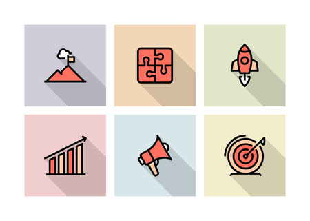 BUSINESS PLAN ICON CONCEPT Stock Illustratie