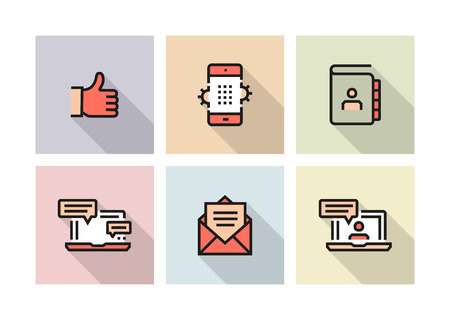 COMMUNICATION ICON CONCEPT Stock Illustratie