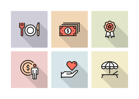 EMPLOYEE BENEFITS ICON CONCEPT Stock Illustratie