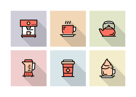 COFFEE ICON CONCEPT Stock Illustratie