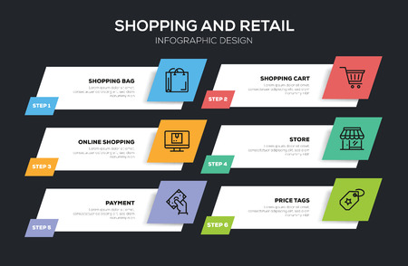 SHOPPING AND RETAIL INFOGRAPHIC DESIGN