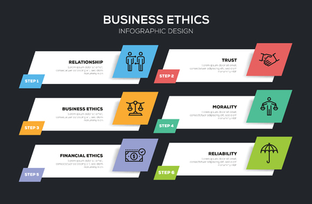 BUSINESS ETHICS INFOGRAPHIC DESIGN