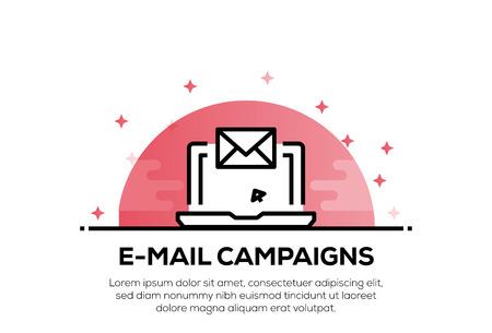 E-MAIL CAMPAIGNS ICON CONCEPT