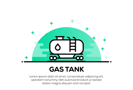 GAS TANK ICON CONCEPT