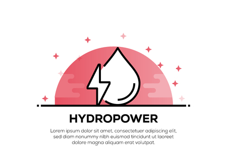 HYDOPOWER ICON CONCEPT 向量圖像