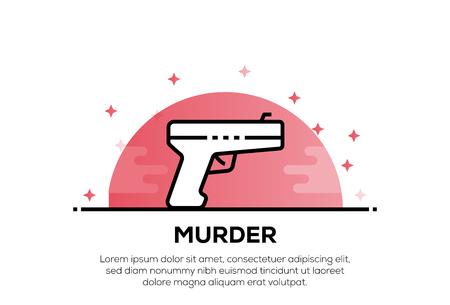 MURDER ICON CONCEPT