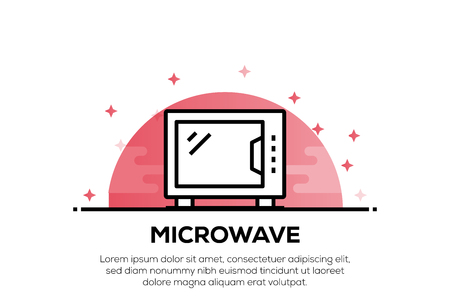 MICROWAVE ICON CONCEPT