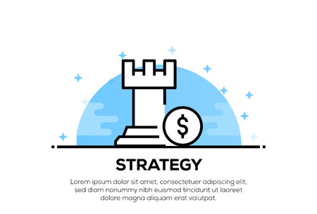 STRATEGY ICON CONCEPT 向量圖像