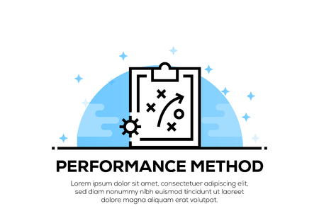 PERFORMANCE METHOD ICON CONCEPT
