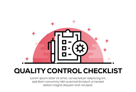 QUALITY CONTROL CHECKLIST ICON CONCEPT