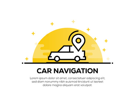 CAR NAVIGATION ICON CONCEPT