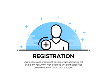 REGISTRATION ICON CONCEPT