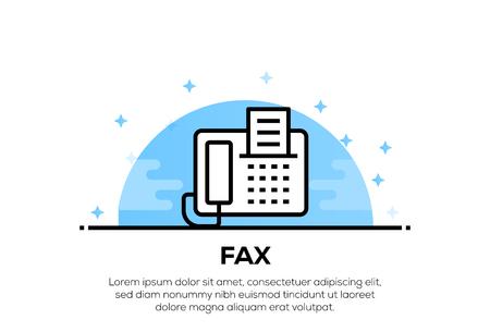 FAX ICON CONCEPT Ilustração