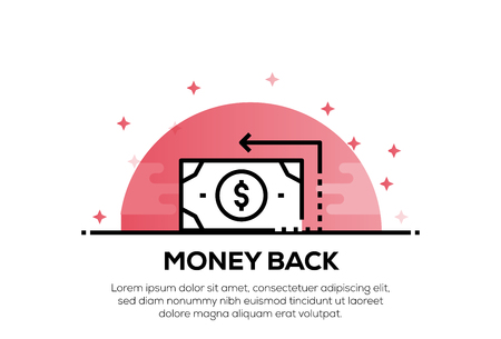 MONEY BACK ICON CONCEPT