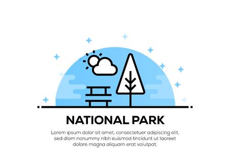 NATIONAL PARK ICON CONCEPT