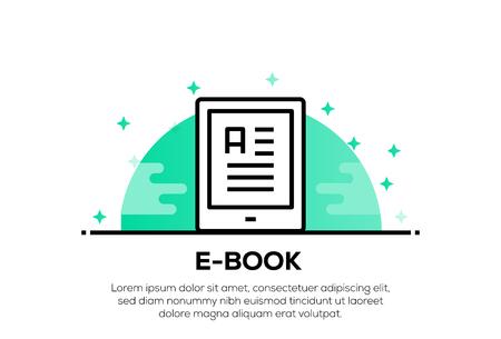 E-BOOK ICON CONCEPT
